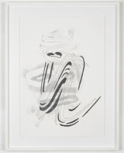'Brush Head Drawing #2', 2012, pencil on watercolour paper, 60x42 cms (unframed)