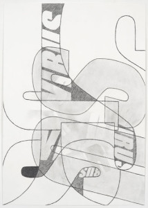 'Virus Drawing #6', 2012, pencil on watercolour paper, 60x42 cms