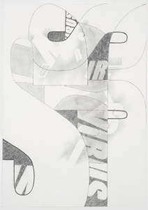 'Virus Drawing #7', 2012, pencil on watercolour paper, 60x42 cms
