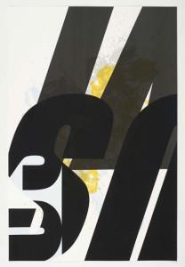 'Virus Print 1 of 8', 2009, silkscreen print onto 300gsm Somerset Satin White Paper, 46x70 cm