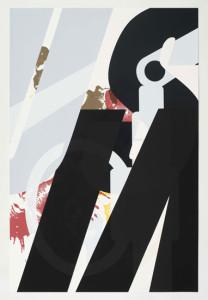 'Virus Print 3 of 8', 2009, silkscreen print onto 300gsm Somerset Satin White Paper, 46x70 cm