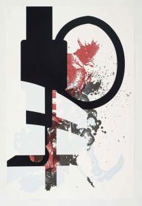 'Virus Print 6 of 8', 2009, silkscreen print onto 300gsm Somerset Satin White Paper, 46x70 cm
