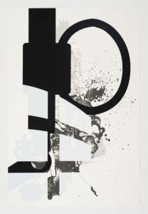 'Virus Print 7 of 8', 2009, silkscreen print onto 300gsm Somerset Satin White Paper, 46x70 cm