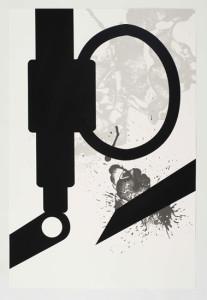 'Virus Print 8 of 8', 2009, silkscreen print onto 300gsm Somerset Satin White Paper, 46x70 cm
